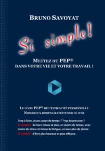 Couverture du Livre Si Simple ! de Bruno Savoyat
